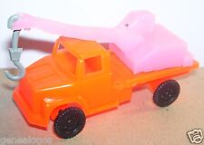 JOUET BAZAR ANNEES 1980 TRUCK DEPANNEUSE CAMION GRUE MACK US USA ORANGE 1/80