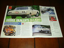 1964 DODGE 330 SEDAN 440 FACTORY RACE CAR ***ORIGINAL 1996 ARTICLE***