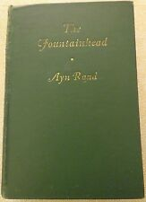 The Fountainhead by Ayn Rand - 1943 Green HC with errors
