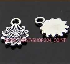 P418 20pc Tibetan Silver sunflower Charm Beads Pendant accessories wholesale