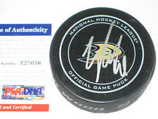 COREY PERRY Signed Anaheim DUCKS Official GAME Puck w/ PSA COA