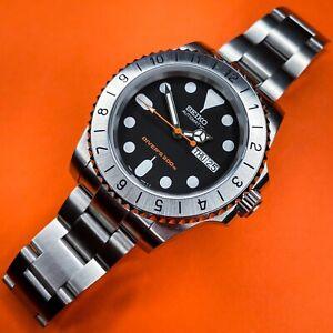 Custom Seiko Submariner mod SKX007 dial automatic dive watchNH35 Explorer II