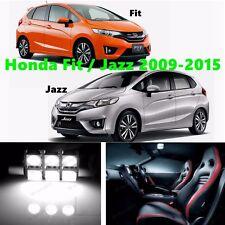 9pcs LED Xenon White Light Interior Package Kit for Honda Fit or Jazz 2009-2015