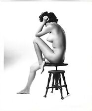 Vintage 1960s Bunny Yeager Fine Art Photograph Striking Nude Pose Wendy Phillips