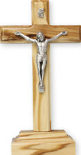 OLIVE WOOD STANDING CRUCIFIX CROSS CATHOLIC STATUES CANDLES PICTURES LISTED