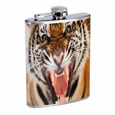 Tiger Em1 Flask 8oz Stainless Steel Hip Drinking Whiskey