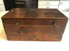 Antique Air Ministry stamped Wooden Box military camera box
