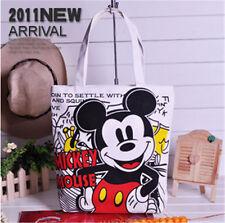 Women Canvas Mickey Mouse Tote Bag Shoulder Bag Handbag Shopping Lunch Purses