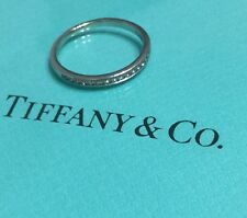 Tiffany & Co Diamond Platinum Half Eternity Ring Band Authentic Engagement
