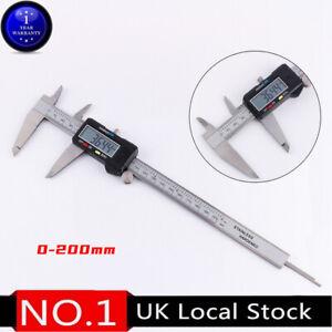 0-200mm Digital Premium Steel Caliper Vernier Gauge Micrometer Clear Calibration