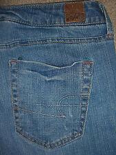 AMERICAN EAGLE True Boot Stretch Light Blue Denim Jeans Womens Size 10 x 28.5