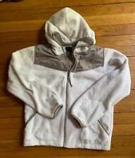 Girls The North Face Oso Fleece Zip Up Hoodie White Size LG (14/16) VGUC