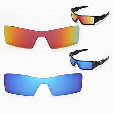 Walleva Polarized Ice Blue + Fire Red Lenses For Oakley Oil Rig Sunglasses