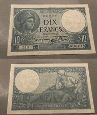 10 Francs Minerve Type 1915 - 21/11/1940 W.80111 SUP +