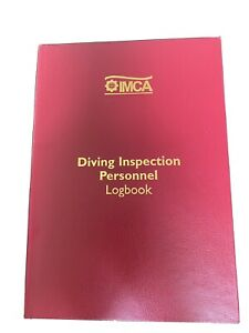Imca Professional Commercial Diving Divers INSPECTION Log Book