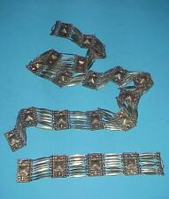 Antique Sterling Silver Belt & Bracelet Set One of a Kind