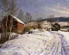 Winter Landscape- Lillehammer by Peder Mork Monsted - Norway 8x10 Art Print 1018