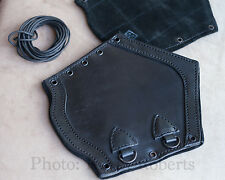 LeatherWorks Premium Black Leather Bracers x2 Arm Guards Armor Sale Size Large