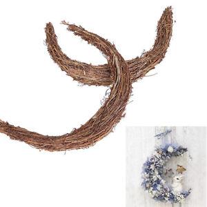 Christmas Rattan Moon Wreath Garland Xmas Tree Pendant Hanging Ornament Craft
