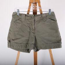 New York & Company Casual Shorts Women's 6 Green 100% Cotton