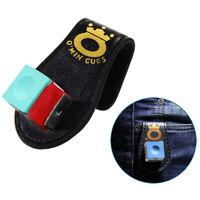 Pool Billiards Snooker Accessories Leather Magnetic Belt Clip Chalk Holder ME