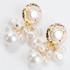 Dangle Ear Drop Earrings Accessories Fashion Women Gold Pearl Pendant Geometric