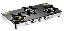 3 Burner Gas Stove (Glass Top) Blacko  with Free Shipping