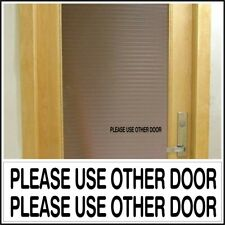 Office Shop Decal PLEASE USE OTHER DOOR business entrance glass door sign BLACK