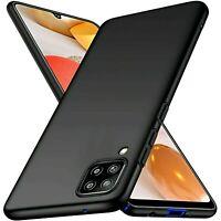 Coque Pour Samsung Galaxy A42 5G Étui Noir Mat Silicone TPU + Verre HD