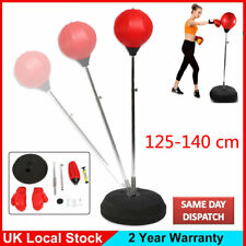 Adult Punch Ball Standing Adjustable With Boxing Bag Gloves Speed Training