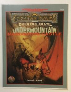 UNDERMOUNTAIN MADDGOTH'S CASTLE AD&D Module Advanced Dungeons & Dragons Crawl