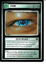 STAR TREK CCG FIRST CONTACT RARE CARD OCCULAR IMPLANTS