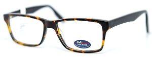 M AMERICA MU105 TORT Tortoise Rectangular Mens Full Rim Eyeglasses 54-16-145