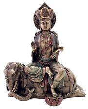 Buddha Samantabhadra Bodhisattva Universal Great Virtue on Elephant Statue #3247
