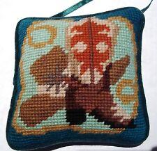 Hanging Door Pillow - Cowboy Themed - Hand Made Cross Stitch Pillow - 5 X 5 NEW