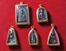 5 Leklai Benjapakee Set Power Phra Somdej Pendant Buddha Thai Amulet Very Rare