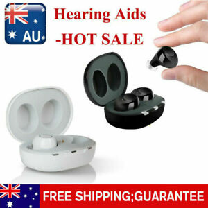 Rechargeable Invisible Hearing Aids Digital Mini Adjustable Sound Amplifier NEW