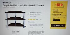 Black Tempered Glass TV Corner Stand, BRAND NEW IN BOX RRP $189.00 AT JB HI FI!!