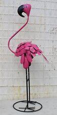 "65""  Metal Tin Pink Flamingo Lawn Decor Yard Ornament  - Bobble Head"