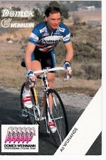 CYCLISME carte  cycliste AD WIJNANDS équipe DOMEX WEINMANN 1989