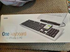 Matias One Keyboard for iPhone and PC w/ Navigation & Media Shortcut Keys NIB