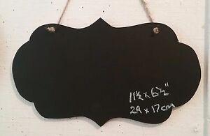 Fancy round oblong landscape chalkboard blackboard wedding sign shop menu a