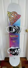 NEW SIMS BLADE SNOWBOARD SIZE 167 CM WITH X LARGE CAMP SEVEN BINDINGS