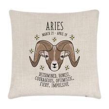 Aries Horoscope Linen Cushion Cover Pillow - Horoscope Star Sign Zodiac Birthday