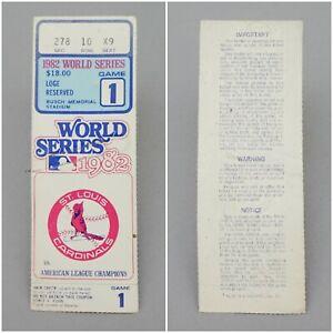 Original St Louis Cardinals 1982 World Series Game One Ticket Stub Busch Stadium