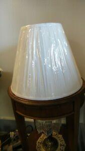 New Small Pleated White Vinyl Lampshade No Harp Necessary