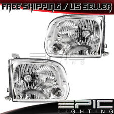 2005-2007 TOYOTA TUNDRA SEQUOIA Double Cab Headlights - Left Right Sides Pair