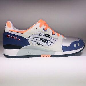 ASICS Gel Lyte 3 OG White Orange Purple Athletic Sneakers Mens Size 10 Defect