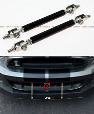 Black Adjustable Bumper Lip Splitter Strut Rod Bar For Subaru Impreza WRX STi