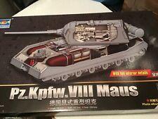 Trumpeter Panzer Maus mit Inneneinrichtung + Alu Rohr 1/35 Neu